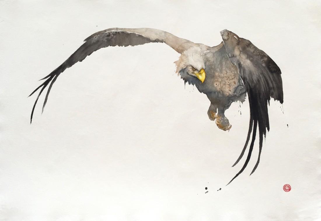 <p>White Tailed Eagle</p><p>Watercolour</p><p>44&#34; x 63.5&#34;</p>
