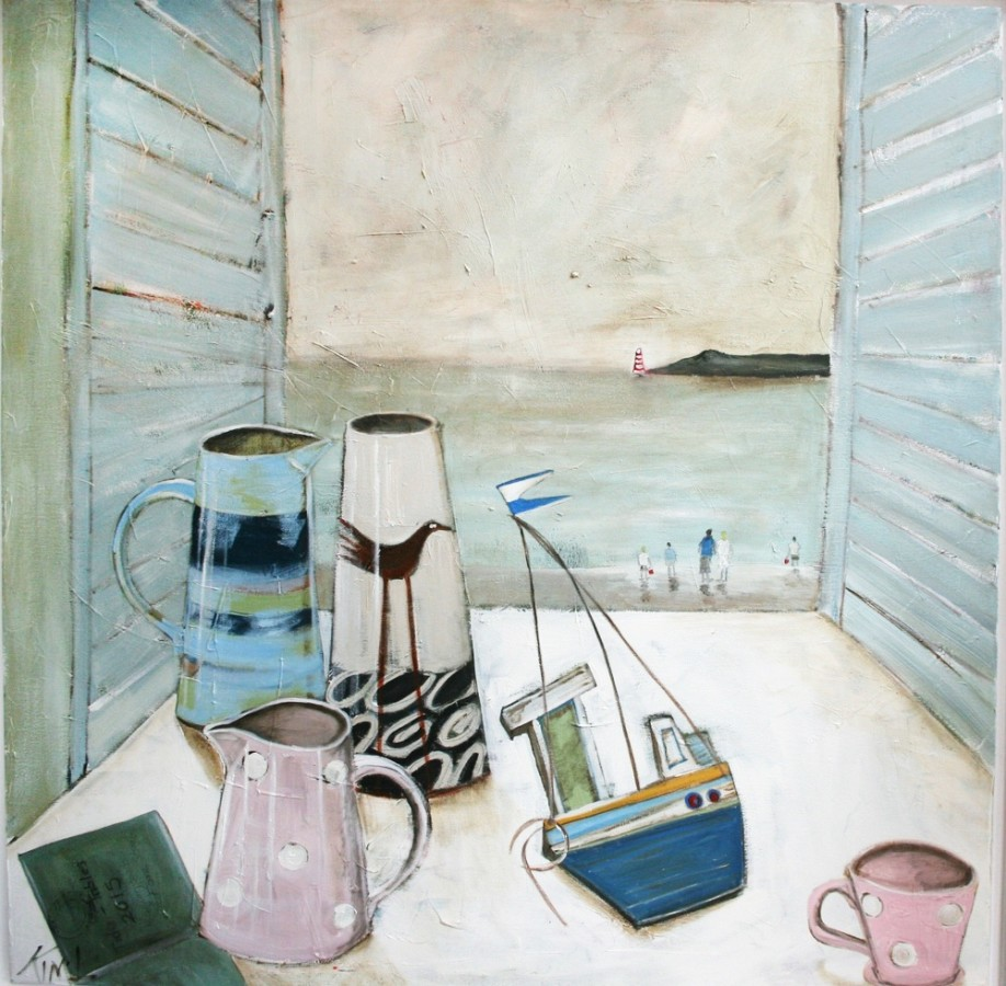 <p><b>Kim Langford</b><br /><i>Holiday Still Life</i><br />Signed<br />Oil on Canvas<br />39 3/8 x 39 3/8 in<br />100 x 100 cm</p>