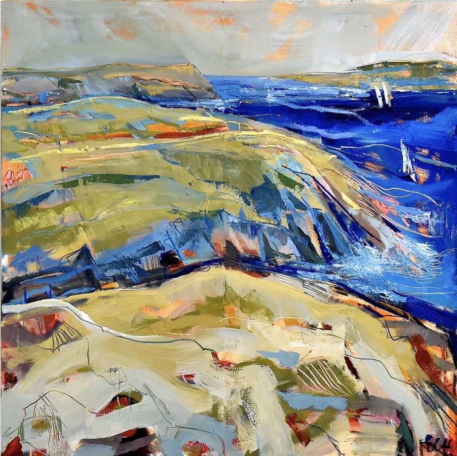 <p><strong>Emma Haggas,</strong></p><p><em><strong>Sailboats off the Cornish Coast</strong></em></p>