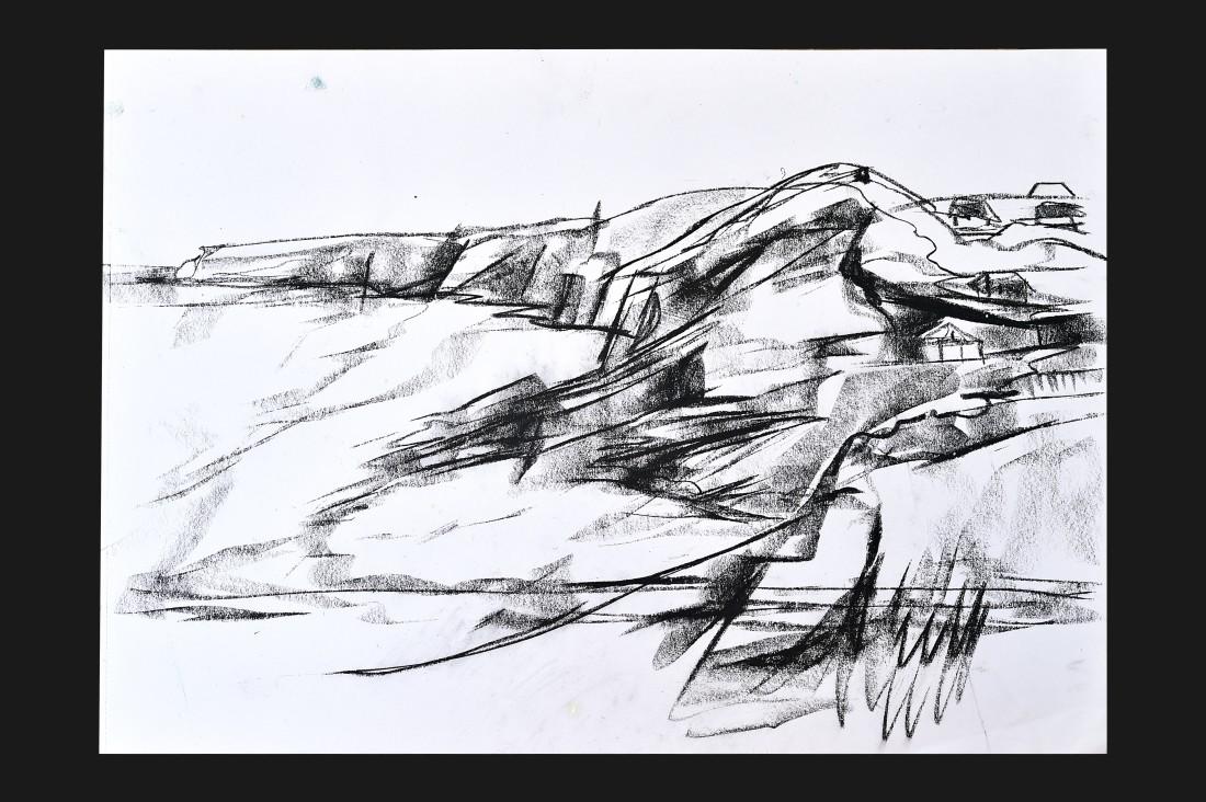 <p>Emma Haggas,</p><p><em>Drawing of Trebarwith Strand</em></p>