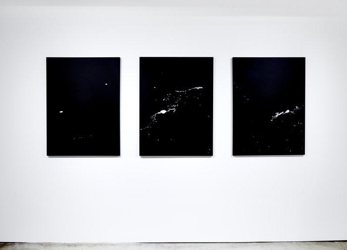 Installation View - FRAM STRAIT I , II, III (Triptych) (2014/2017)