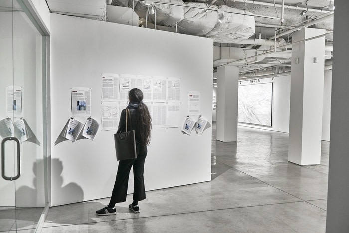 Installation View - Wall Text - The Anthropocene is functionally and stratigraphically distinct from the Holocene