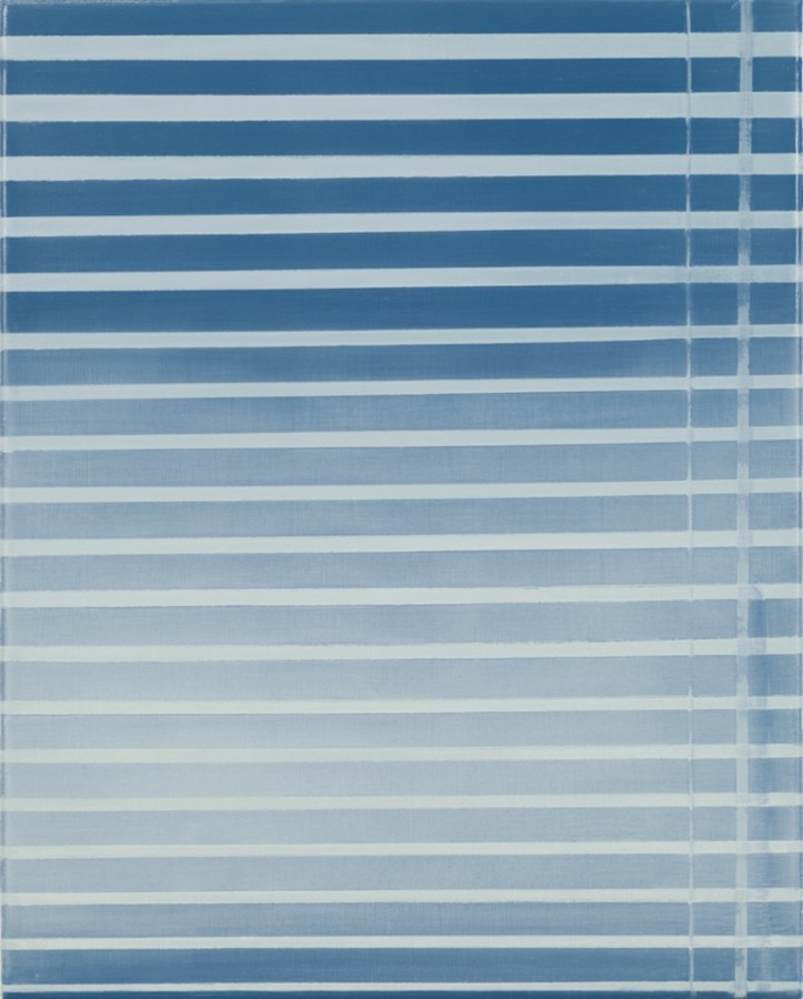 Sarah Pater, Blinds (mid-day), 2015  Oil on canvas, 20 x 16 in.  pate001