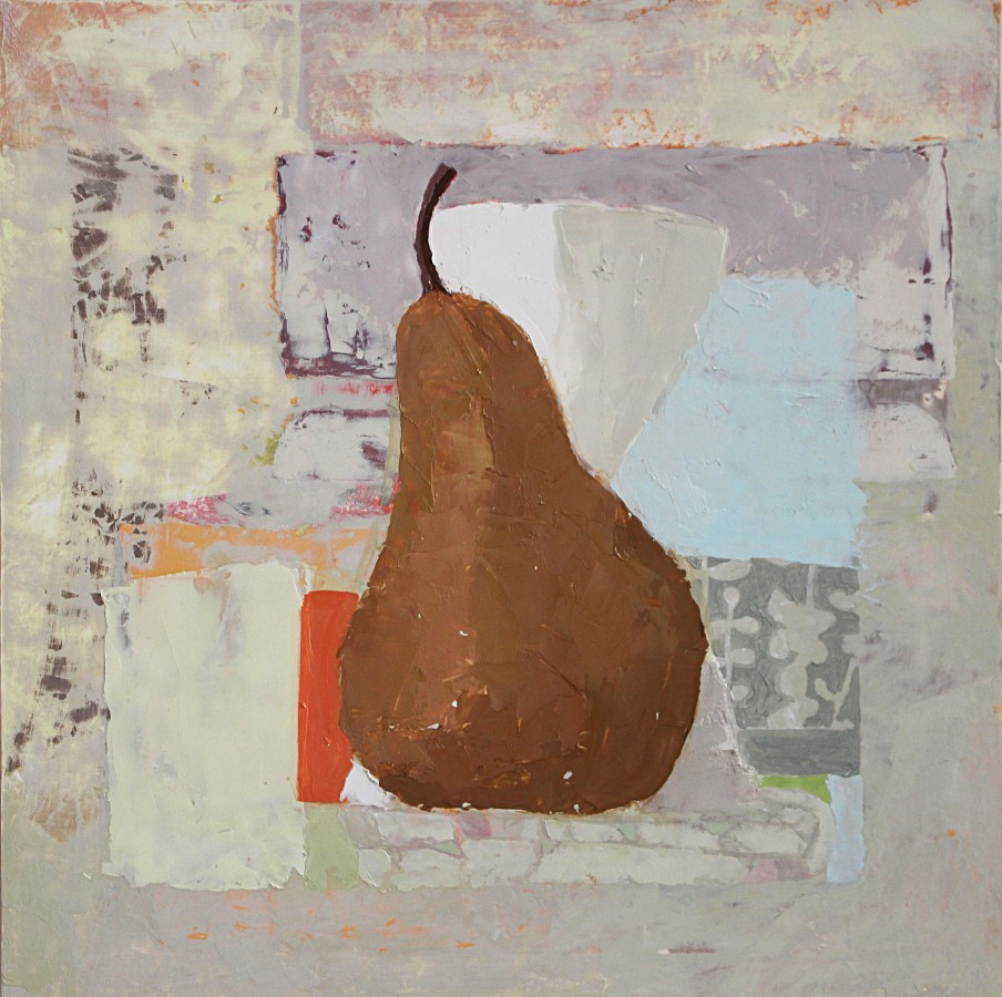 Sydney Licht Still Life with Pear, 2014 oil on panel 12 x 12 in.