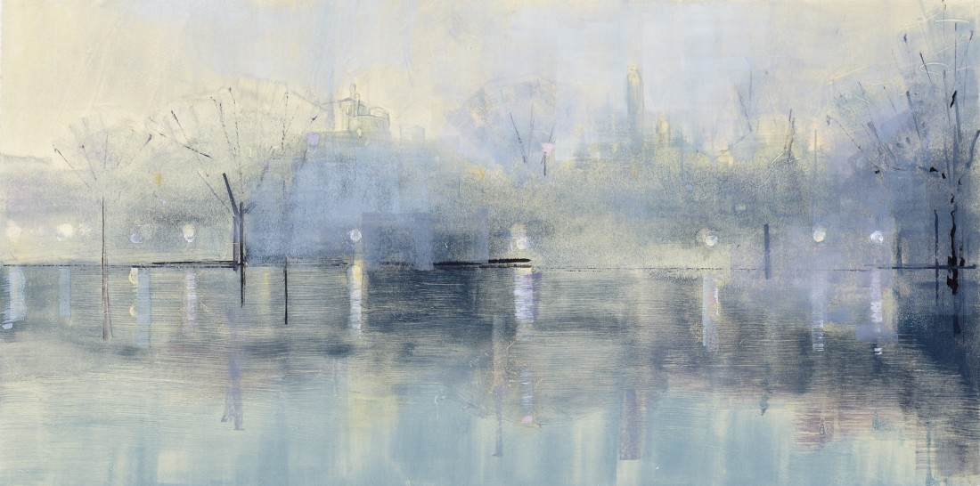 Lisa Breslow  Twilight 7, 2013  Monotype, paper size 22 x 36 inches  14 x 28 in.