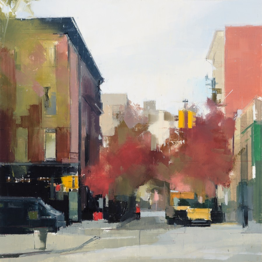Lisa Breslow  Perry Street, 2014  Oil and pencil on panel  30 x 30 in.
