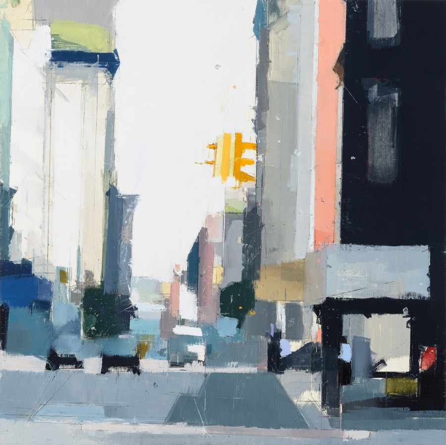 Lisa Breslow  Yellow Light, 2014  Oil and pencil on panel  24 x 24 in.