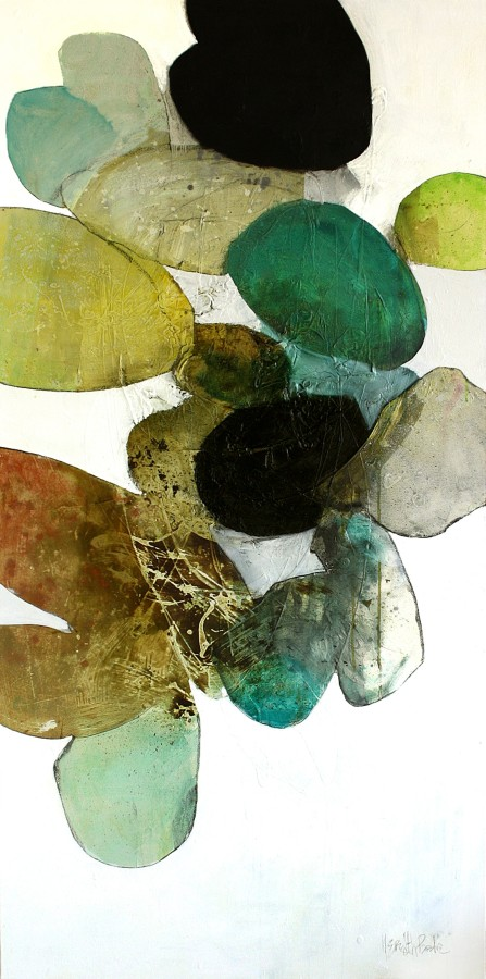 Meredith Pardue  Om Luna, 2014  Ink, oil, and charcoal on canvas  72 x 36 inches