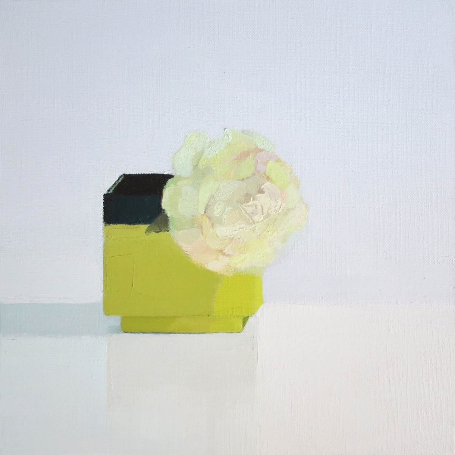 Stephanie London Mid-Century Rose, 2014 Oil on linen 12 x 12 inches