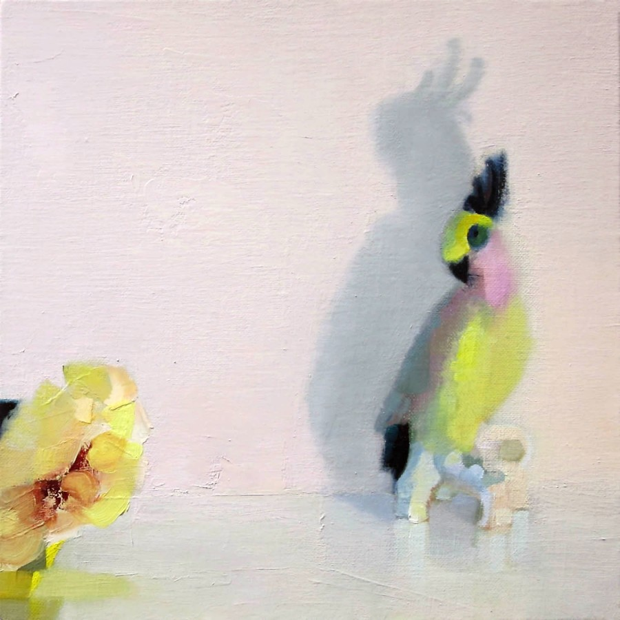 Stephanie London Suspicion, 2014 Oil on linen 12 x 12 inches