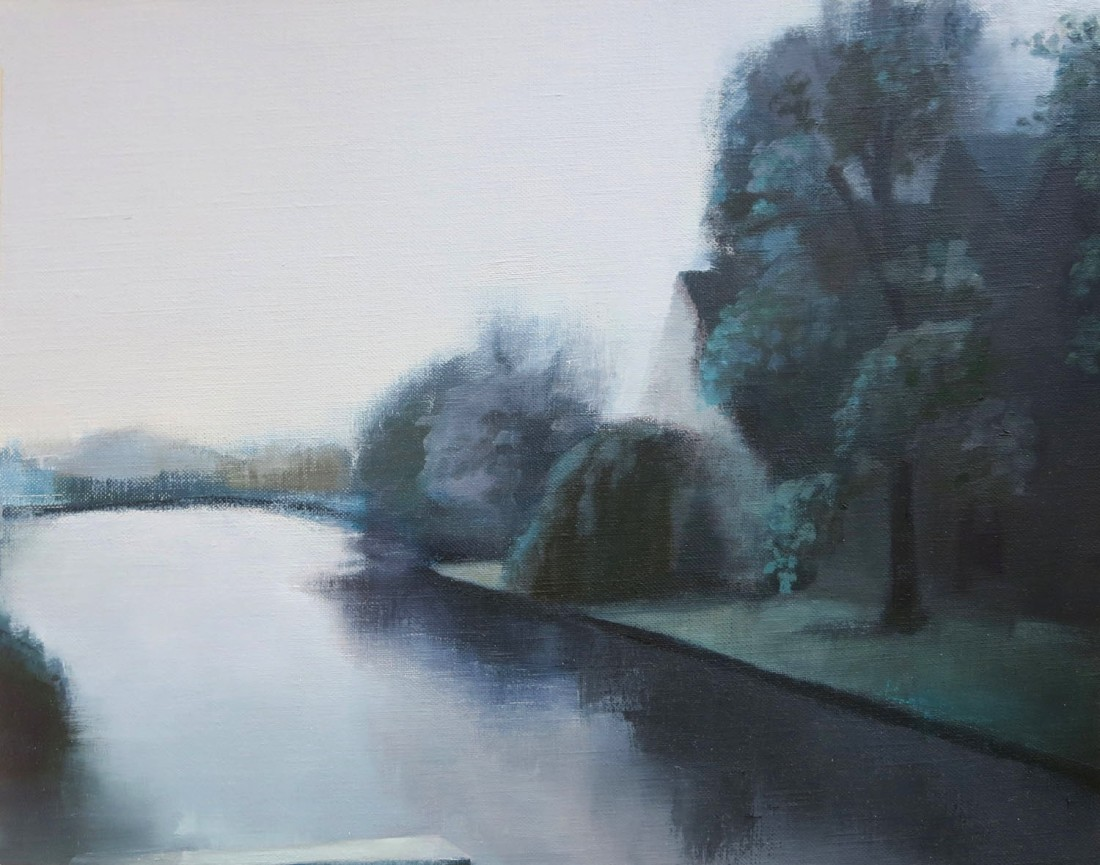 Stephanie London River Spree, 2014 Oil on linen 14 x 18 inches