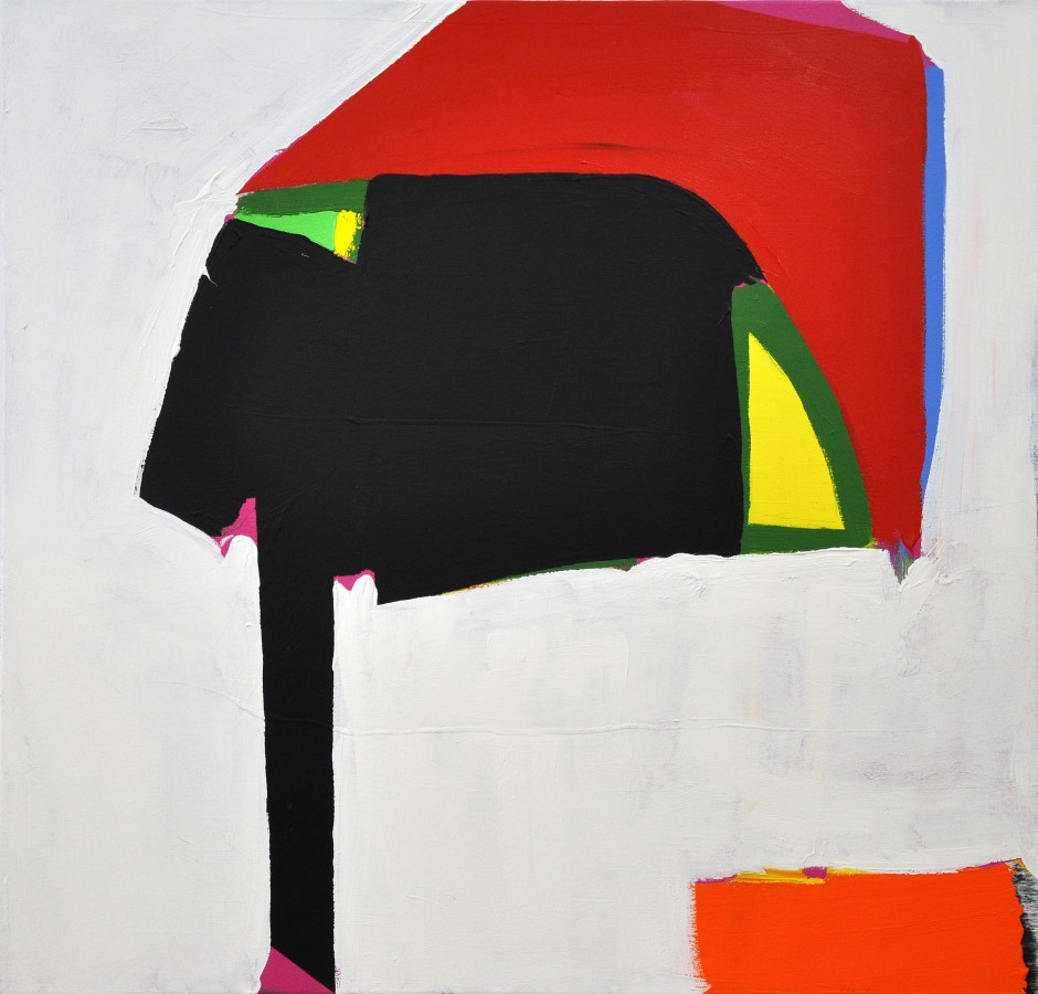 Paul Behnke Robert Taylor's Helmet, 2013  Acrylic on canvas 48 x 50 inches