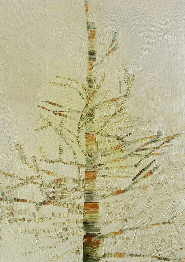 Josette Urso Canada Pines 1, 2009 Oil on panel 7 x 5 inches