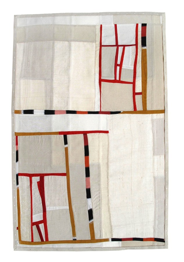 <p><strong>Debra Smith</strong></p><p><i>Observing Presence Series #2</i>, 2010&nbsp;&nbsp;&nbsp;&nbsp;&nbsp;</p><p>Pieced vintage silk</p><p>21 x 13 inches</p>