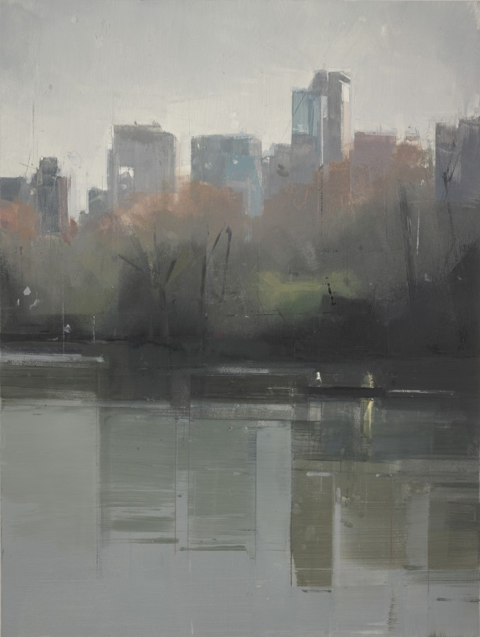 Lisa Breslow Central Park Lake 4, 2012 Oil on panel 16 X 12 inches