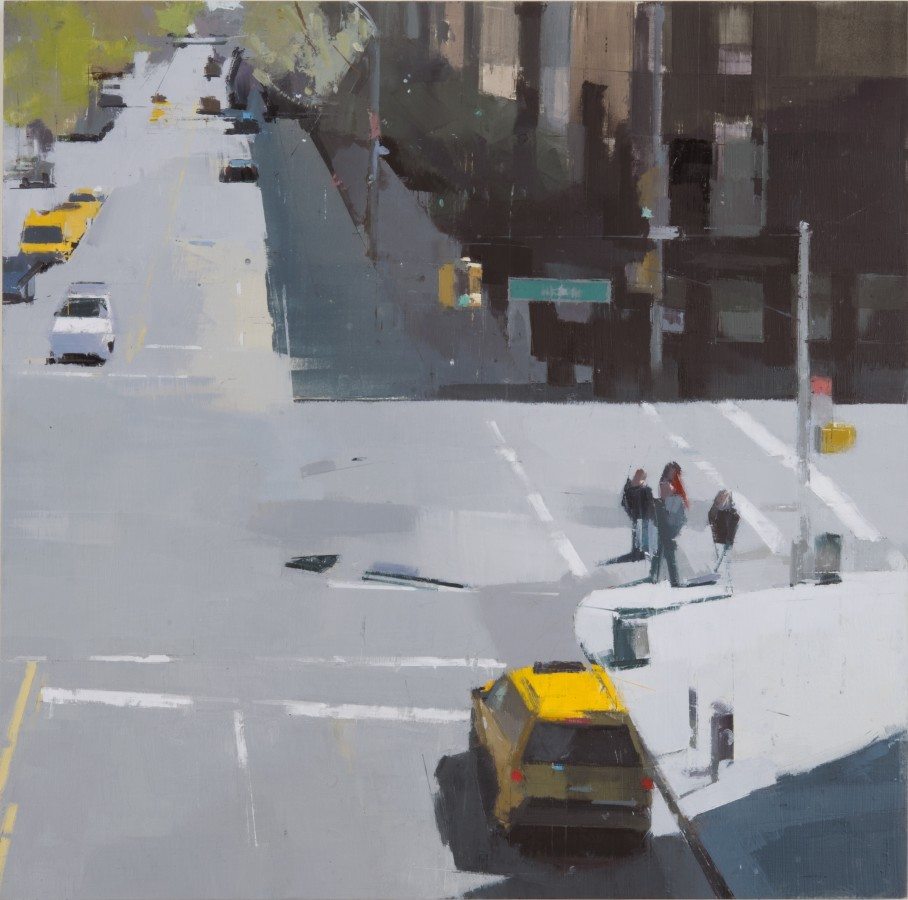 Lisa Breslow From the High Line, 2012 Oil and pencil on panel 24 X 24 inches