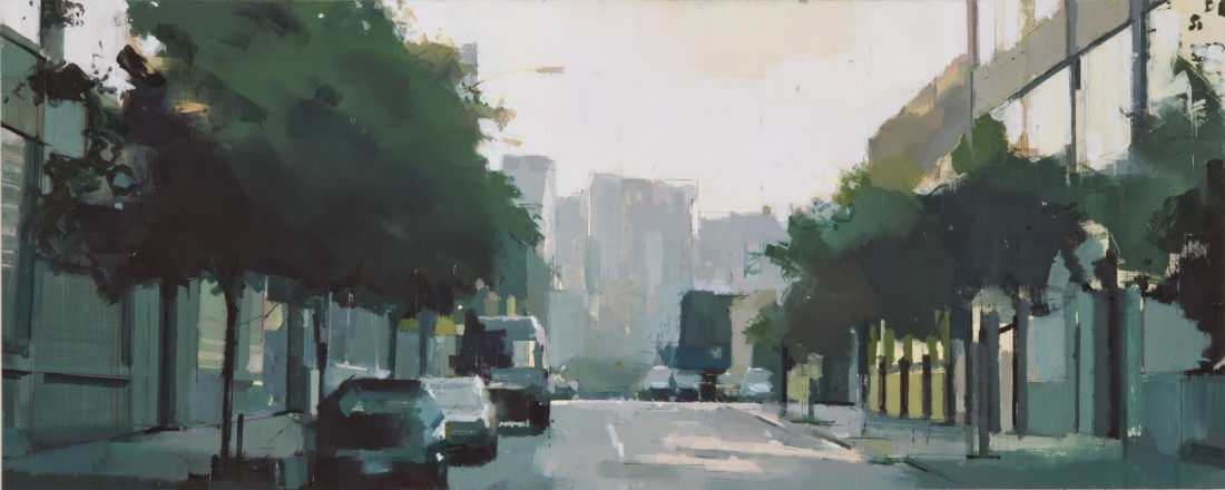Lisa Breslow Long Island City Reflections, 2012 Oil and pencil on panel 20 X 50 inches