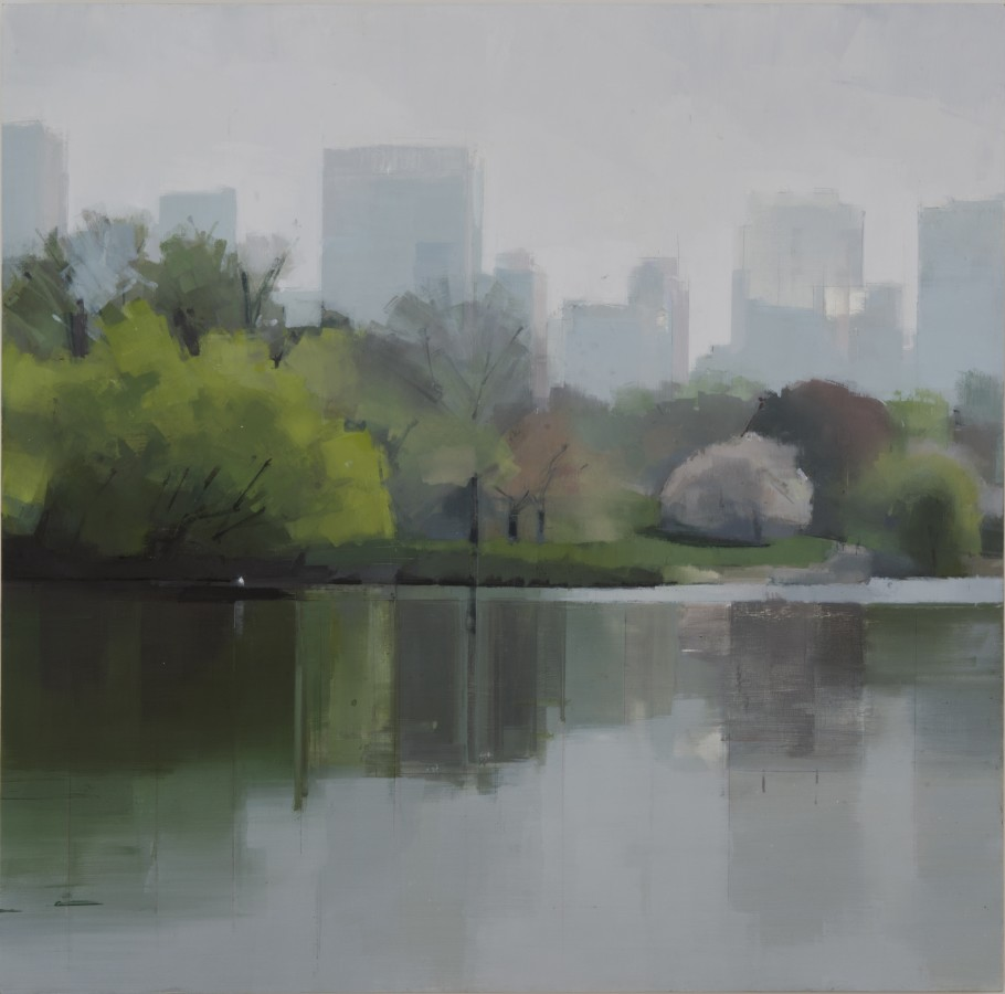 Lisa Breslow Spring Reflections, 2012 Oil on panel 40 X 40 inches
