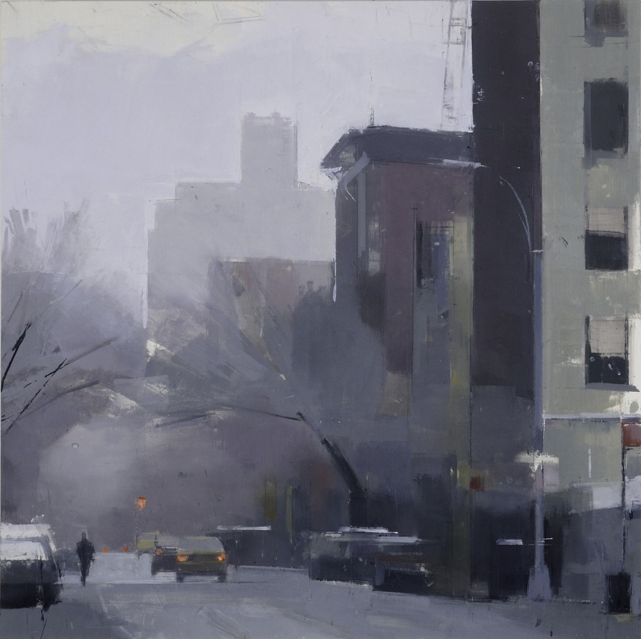 Lisa Breslow West Village, Greenwich Street, 2012 Oil and pencil on panel 24 X 24 inches