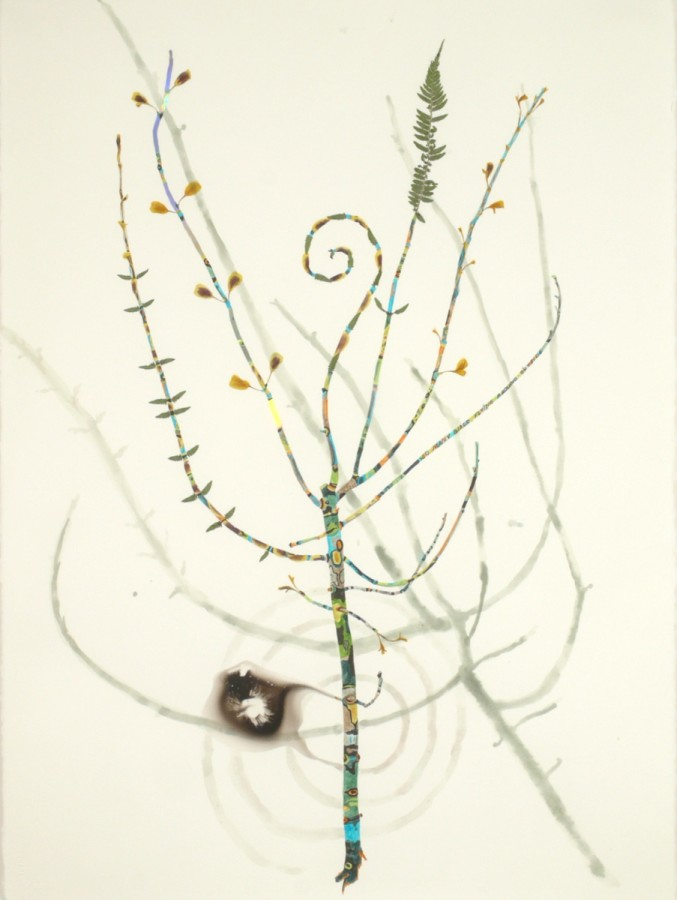 Marilla Palmer  Flying Around Outside, 2011  mixed media  30 x 22 in