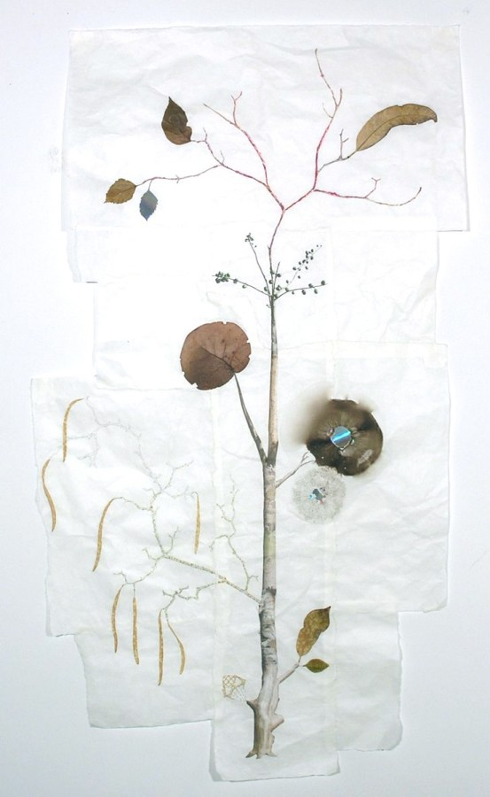 Marilla Palmer Uxmal Magician, 2011 mixed media on Mulberry paper 50 x 27 in