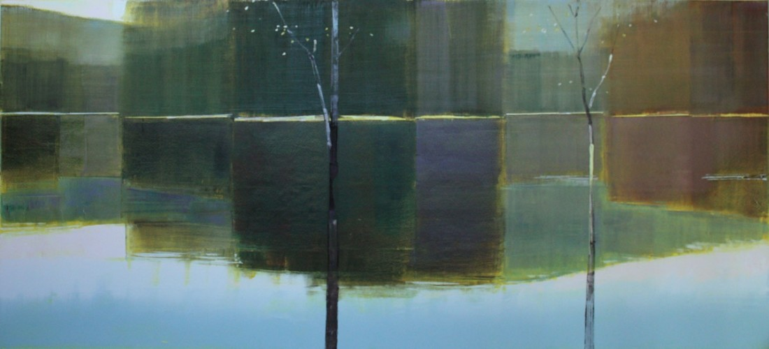 Stephen Pentak X.I, 2011 Oil on panel 42 1/2 x 96 inches