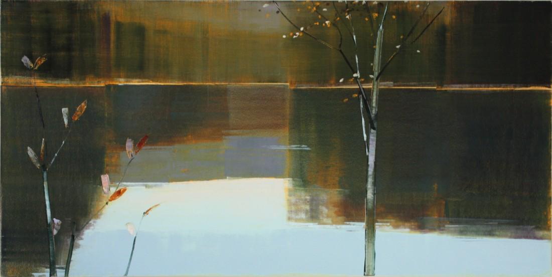 Stephen Pentak VIII.III, 2011 Oil on panel 36 x 72 inches