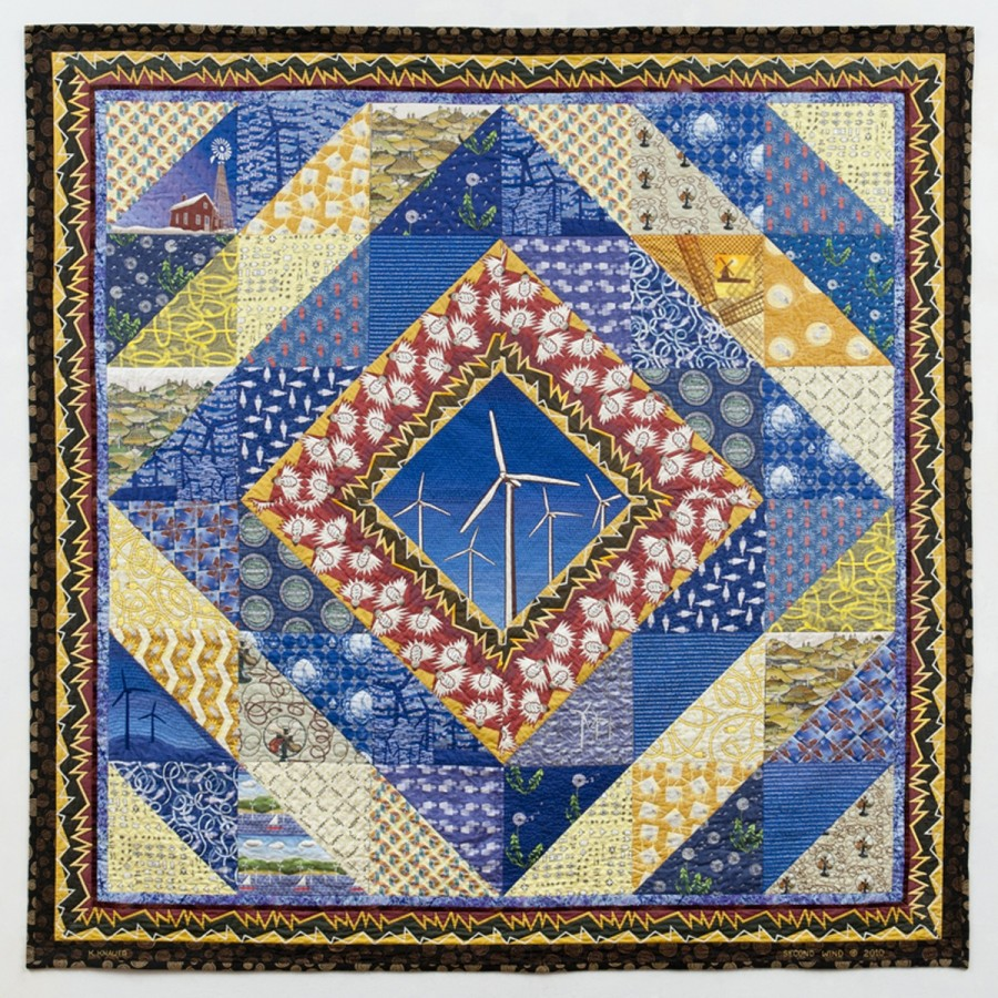 <p><strong>Katherine Knauer</strong></p><p><em>Second Wind</em>, 2010cotton fabrics and thread</p><p>88 x 88 in.</p>