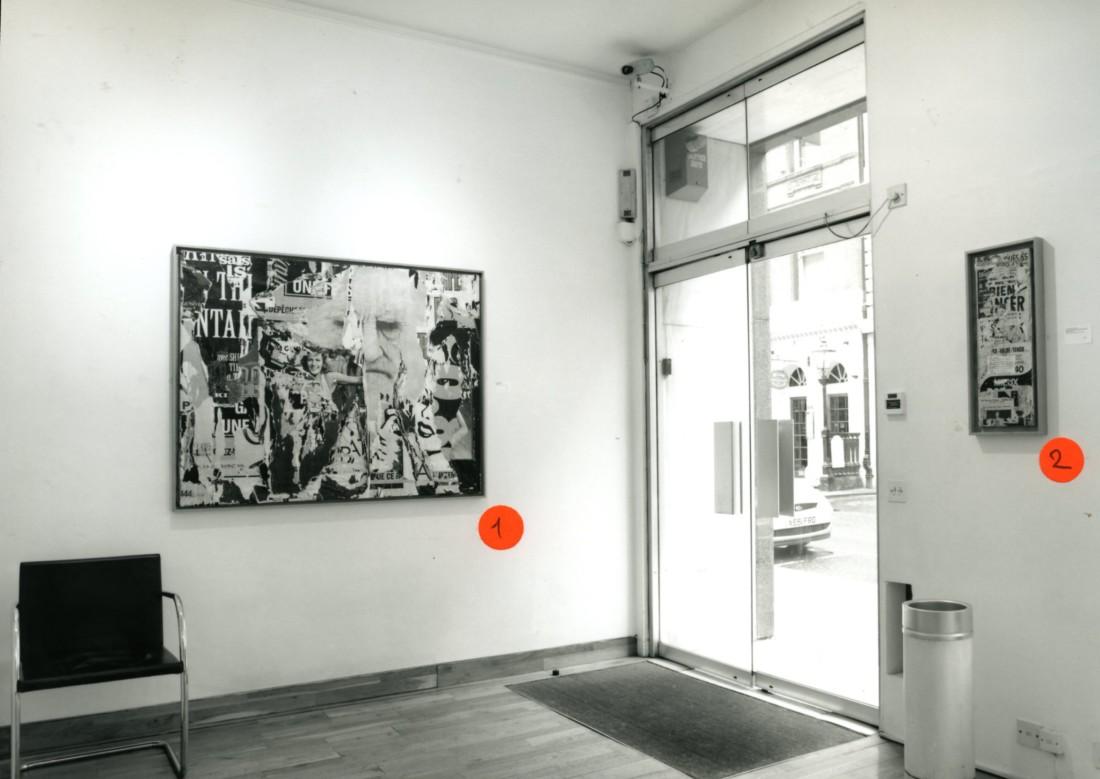 <p>JACQUES VILLEGLE Installation View</p>