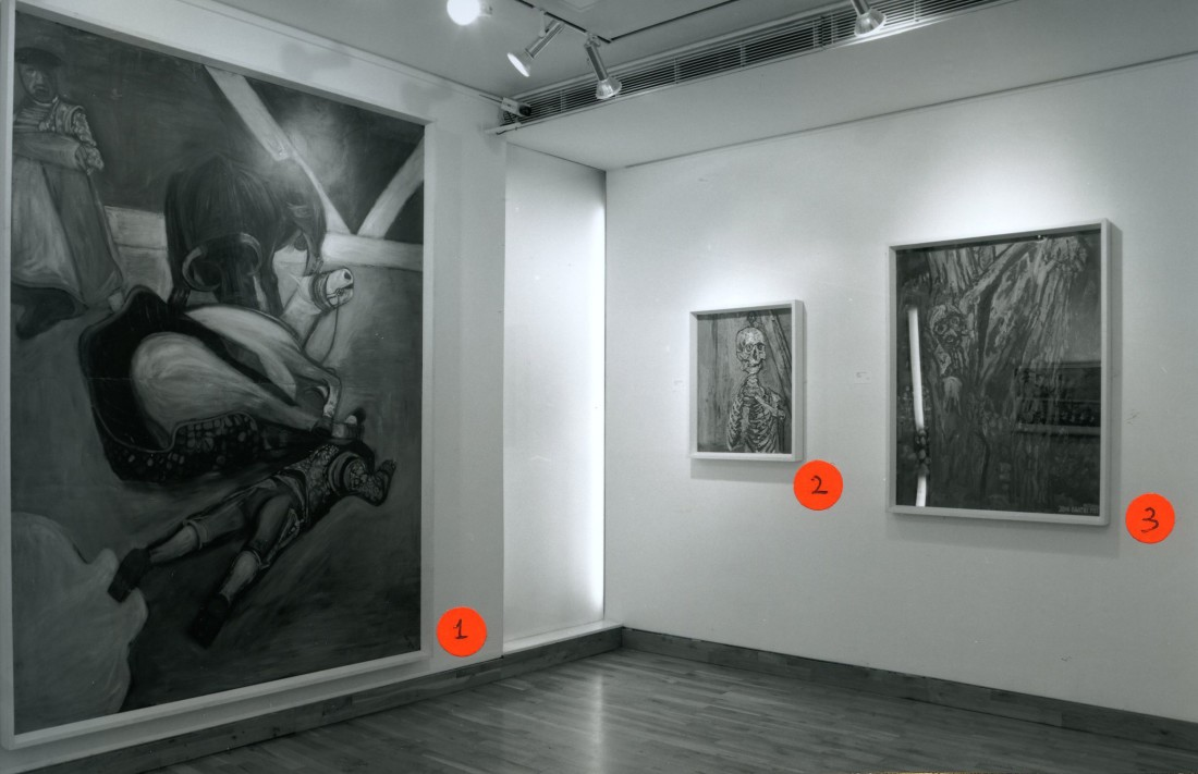 <p>MARK GLAZEBROOK Installation View</p>