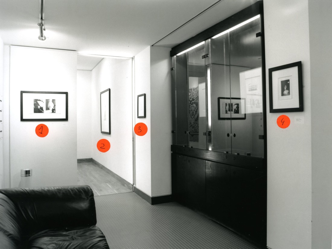 <p>PORTRAITS Installation View</p>