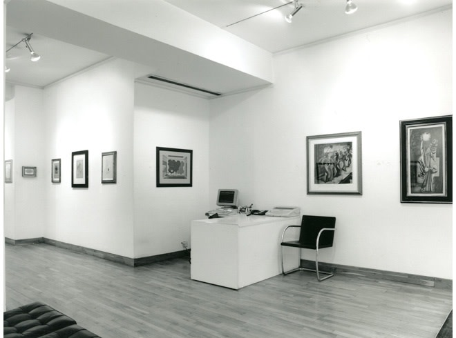 <p>WORKS ON PAPER Installation View</p>