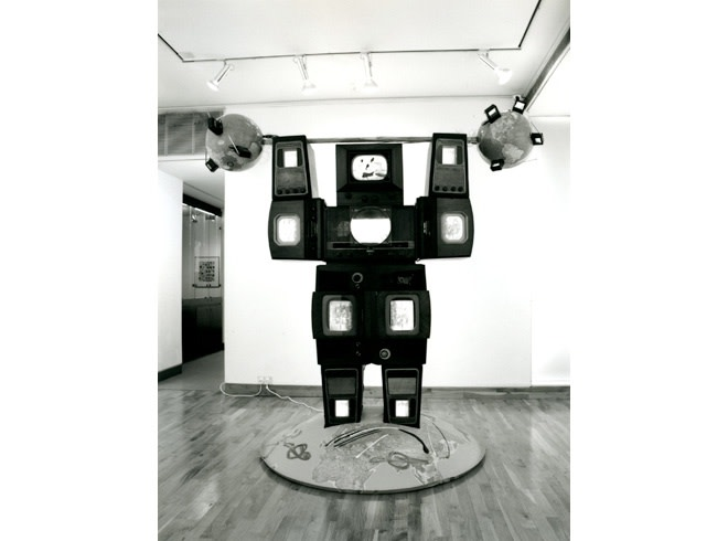 <p>NAM JUNE PAIK Installation View</p>