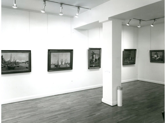 <p>EDWARD WADSWORTH Installation View</p>