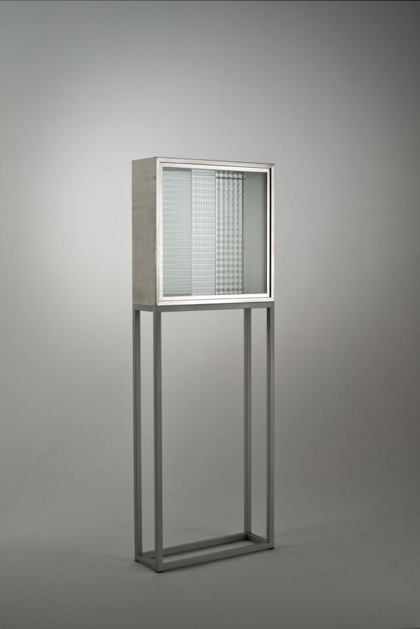 "<p><span class=""artist""><strong>NANDA VIGO</strong></span>, <span class=""title""><em>Cronotpo (N.771)</em>, 1965</span></p><div class=""medium"">Aluminium and glass</div><div class=""dimensions"">60 x 60 x 20 cm<br />23 5/8 x 23 5/8 x 8 inches</div>"