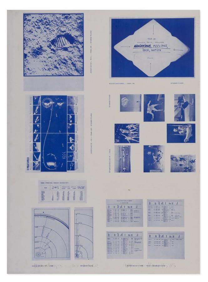 """<span class=""""artist""""><strong>STANO FILKO</strong></span>, <span class=""""title""""><em>Chronology - Associations</em>, 1968 - 1970</span>"""