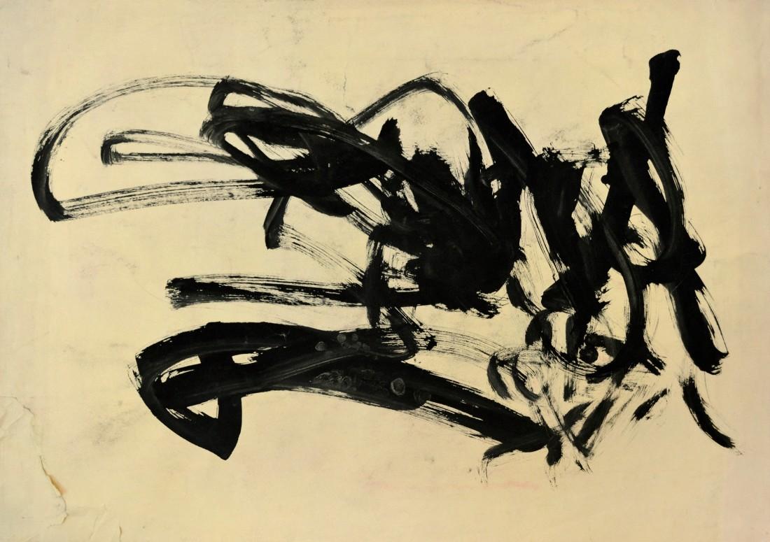 "<p><span class=""artist""><strong>CONGO</strong></span>, <span class=""title""><em>41st Painting Session 19 August 1958</em><br /></span></p><p><span class=""title"">1958</span></p><div class=""medium"">Poster painton paper</div><div class=""dimensions"">52 x 74 cm<br />20 ½ x 29 ⅛ inches</div>"