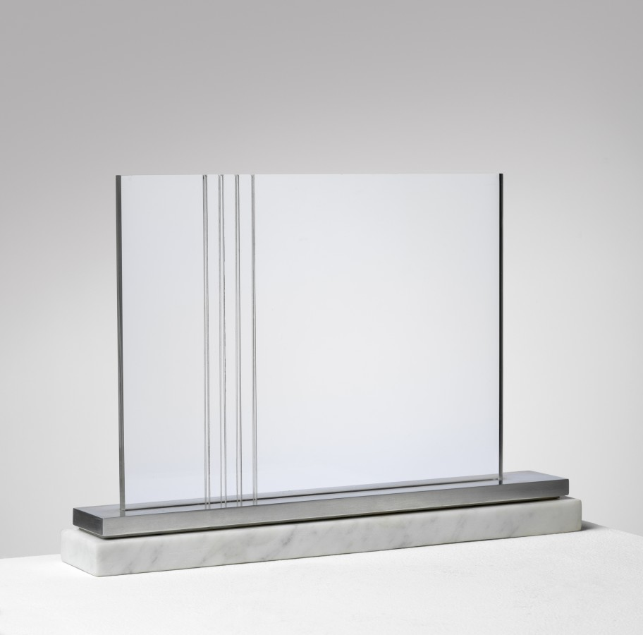 "<p><span class=""artist""><strong>CARLOS CAIROLI</strong></span>, <span class=""title""><em>Untitled</em>, 1970</span></p><div class=""medium"">Altuglas, steel and marble base</div><div class=""dimensions"">21.5 x 31.3 x 5.6 cm<br />8 ½ x 12 ⅜ x 2 ¼ inches</div>"