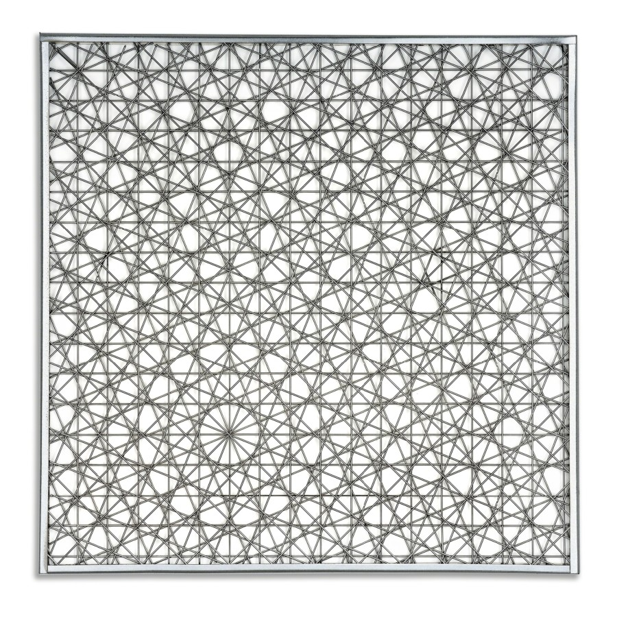"<p><span class=""artist""><strong>FRANCOIS MORELLET</strong></span>, <span class=""title""><em>4 Trames de grillage 0 - 22,5 - 45 - 67,5</em>, 1967</span></p><div class=""medium"">Stainless steel in frame</div><div class=""dimensions"">60 x 60 cm<br />23 5/8 x 23 5/8 inches</div><div class=""edition_details"">Edition of less than 10 started in 1965</div>"