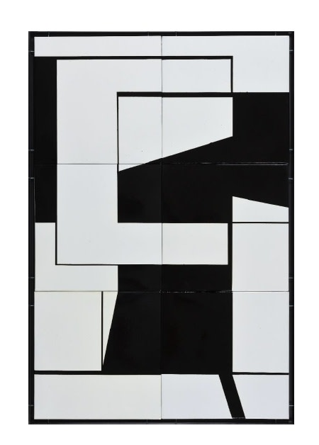 "<p><span class=""artist""><strong>LAJOS SZELÉNYI</strong></span>, <span class=""title""><em>Untitled</em>, 1970</span></p><div class=""medium"">Enamel on metal plate, 6 pieces</div><div class=""dimensions"">135 x 90 cm<br />53 ⅛ x 35 ½ inches</div>"