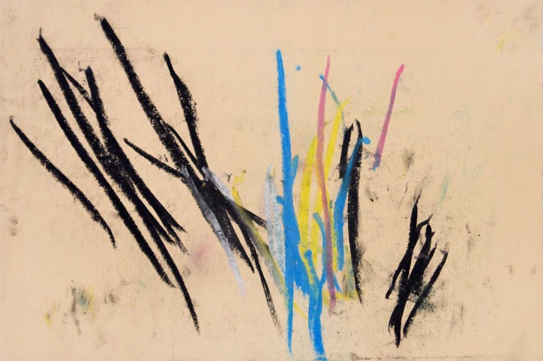 "<p><span class=""artist""><strong>CONGO</strong></span>, <span class=""title""><em>Fan Pattern 31 August 1957</em></span></p><p><span class=""title"">1957</span></p><div class=""medium"">Pastel on paper</div><div class=""dimensions"">26 x 38.5 cm<br />10 ¼ x 15 ⅛ inches</div>"