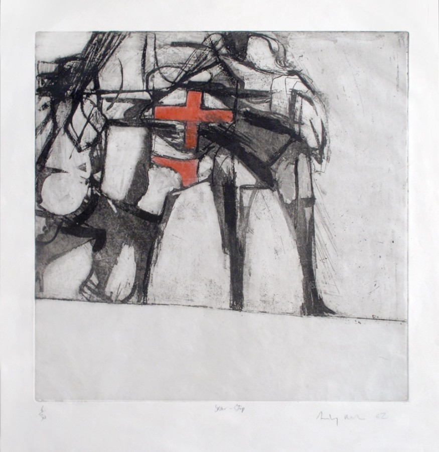 """<p><strong><span class=""""artist"""">ANTONY DONALDSON</span></strong>,<span class=""""title""""><em>Star Strip</em>, 1962</span></p><div class=""""signed_and_dated"""">Etching, ed. 6/30</div><div class=""""signed_and_dated"""">55 x 53 cm</div><div class=""""signed_and_dated"""">21 5/8 x 20 7/8 inches</div><div class=""""signed_and_dated""""></div><div class=""""signed_and_dated"""">£2,500.00</div>"""