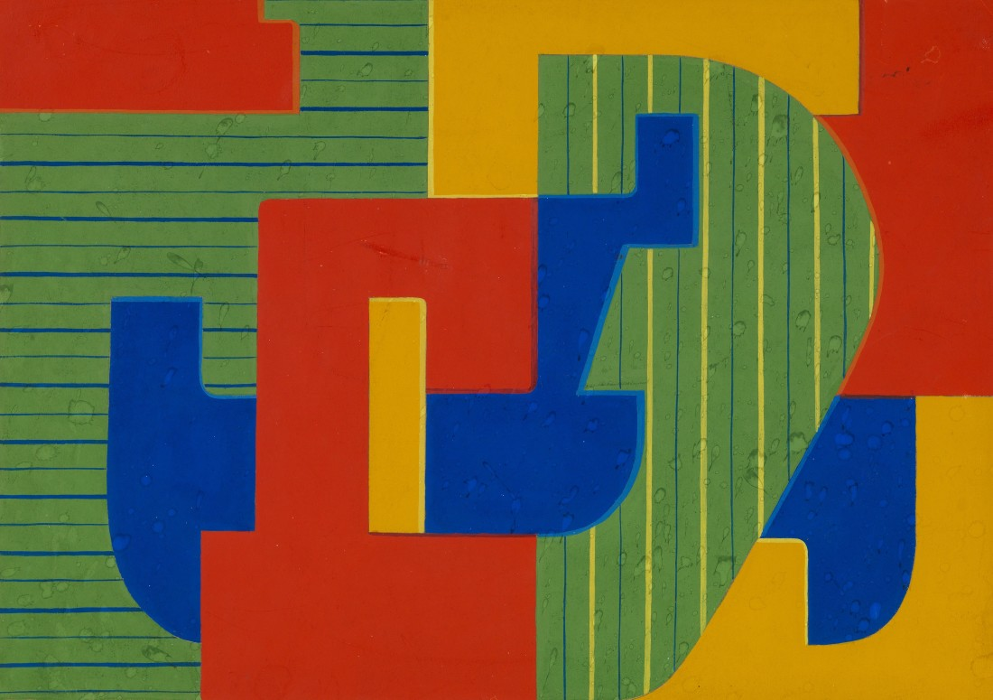 "<p><span class=""artist""><strong>WIFREDO ARCAY</strong></span>, <span class=""title""><em>Untitled</em>, c1950</span></p><div class=""medium"">Gouache on paper</div><div class=""dimensions"">25 x 35.5 cm<br />(14 ins x 9 7/8 inches)</div>"