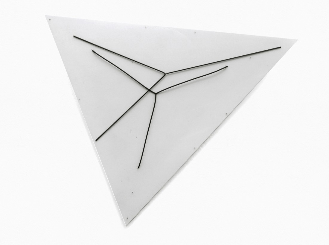 "<p><span class=""artist""><strong>GIANNI COLOMBO</strong></span>, <span class=""title""><em>Spazio elastico intermutabile</em>, 1977-85</span></p><div class=""medium"">Springs on board</div><div class=""dimensions"">67 x 67 x 60 cm<br />26 3/8 x 26 3/8 x 23 5/8 inches</div>"