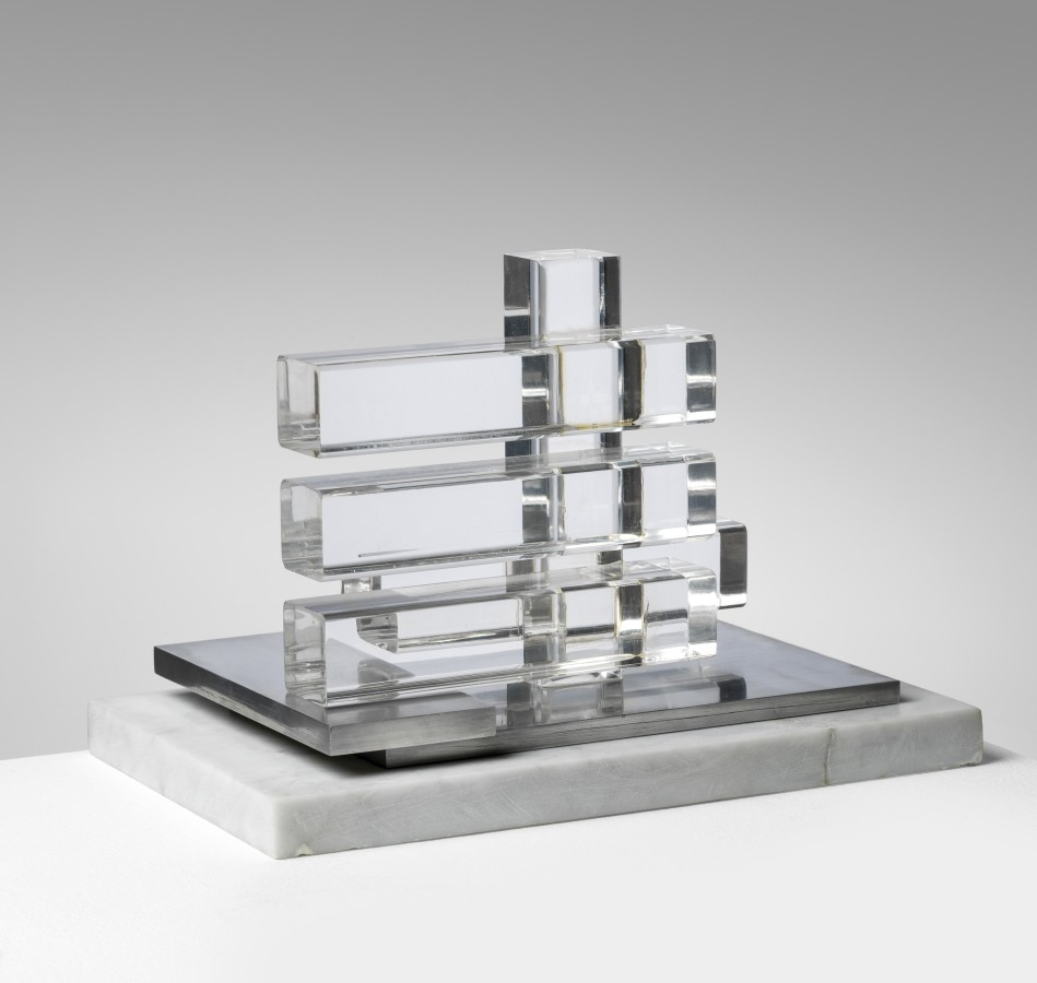 "<p><span class=""artist""><strong>CARLOS CAIROLI</strong></span>, <span class=""title""><em>Untitled</em>, 1970</span></p><div class=""medium"">Altuglas, steel and marble base</div><div class=""dimensions"">18 x 26.8 x 19 cm<br />7 x 10 ½ x 7 ½ inches</div>"