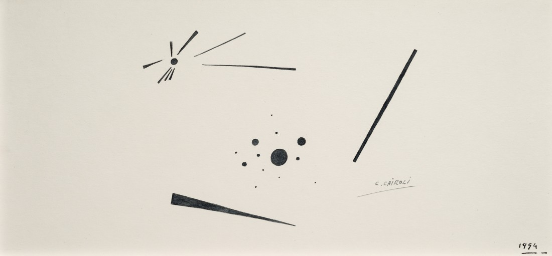 "<p><span class=""artist""><strong>CARLOS CAIROLI</strong></span>, <span class=""title""><em>Polarisation</em>, 1954</span></p><div class=""medium"">Ink on paper</div><div class=""dimensions"">18 x 38 cm<br />7 x 15 inches</div>"