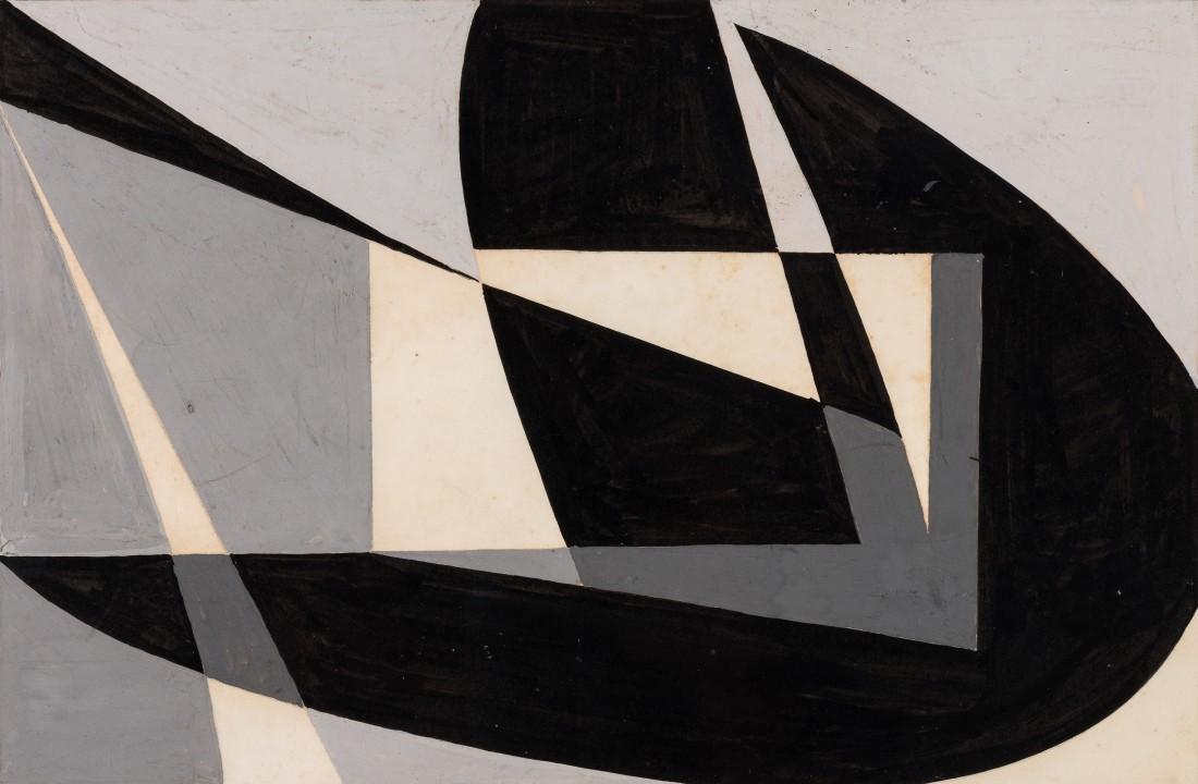 "<p><span class=""artist""><strong>WIFREDO ARCAY</strong></span>, <span class=""title""><em>Macquette 'Composicion Abstracta en Negro'</em>, c1950</span></p><div class=""medium"">Gouache and ink on paper</div><div class=""dimensions"">18 x 27 cm<br />(7 1/8 x 10 5/8 inches)</div>"