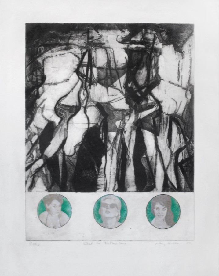"""<p><strong><span class=""""artist"""">ANTONY DONALDSON</span></strong>,<span class=""""title""""><em>What the butler saw</em>, 1962</span></p><div class=""""signed_and_dated""""><div class=""""signed_and_dated"""">Etching with newspaper transfers,Unique</div><div class=""""signed_and_dated"""">57.5 x 46 cm</div><div class=""""signed_and_dated"""">22 5/8 x 18 1/8 inches</div></div><div class=""""signed_and_dated""""><br class=""""Apple-interchange-newline"""" />£5,000.00</div>"""