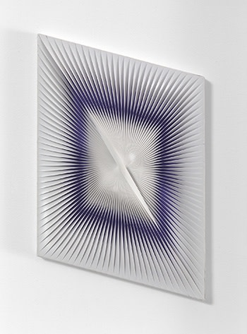 """<p><span class=""""artist""""><strong>ALBERTO BIASI</strong></span>, <span class=""""title""""><em>Untitled</em>, 2003</span></p><div class=""""medium"""">PVC relief on painted wood panel</div><div class=""""dimensions"""">24 x 15 cm<br />9 ½ x 6 inches</div>"""
