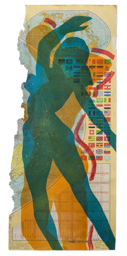 "<span class=""artist""><strong>STANO FILKO</strong></span>, <span class=""title""><em>Map of the World (Woman)</em>, 1967</span>"